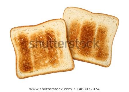 brindis · aislado · rebanada · alimentos · pan · negro - foto stock © latent