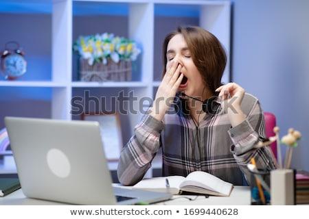 can · sıkıntısı · çalışmak · genç · kadın · sarışın · saç - stok fotoğraf © photography33
