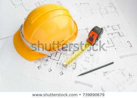 Blueprint, helmet Stock photo © REDPIXEL