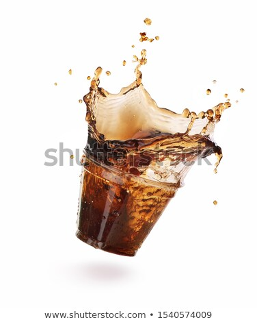 cola splash with ice stock photo © jirkaejc
