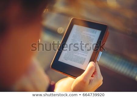 ebook · leitor · preto · escolas · tela · estudar - foto stock © andreykr