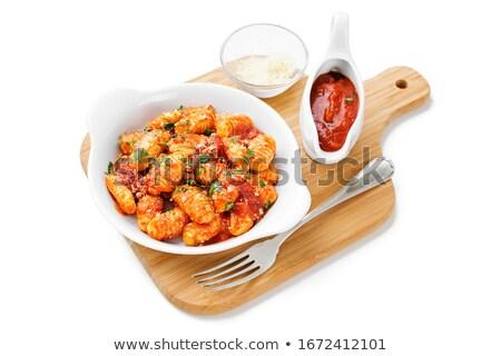 gnocchi isolated on a white background Stock photo © leeavison