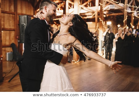 bride and groom dancing in the dark stock photo © paha_l