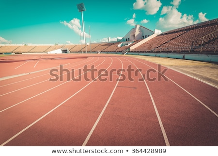 red running tracks stock photo © microolga