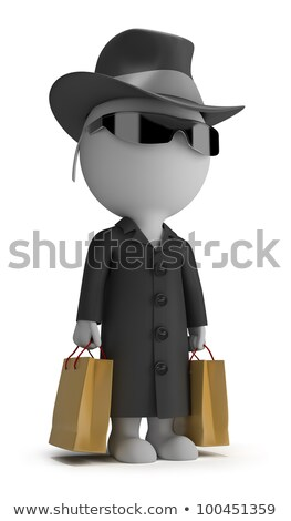 3d small people   mystery shopper stock photo © anatolym