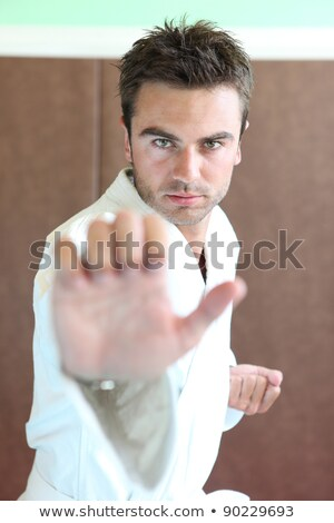 homme · asthme · attaquer · souffle · jeune · homme · visage - photo stock © photography33
