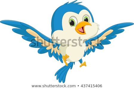 Cute Cartoon Birds Stock photo © indiwarm