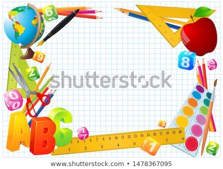 Educação dobrador ilustração objeto branco escolas Foto stock © vectomart