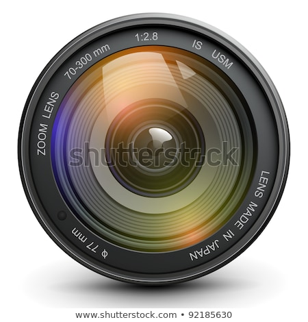eye with black camera lens stock photo © ozaiachin