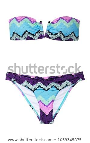 Kettő darab bikini stúdiófelvétel izolált fehér Stock fotó © filipw