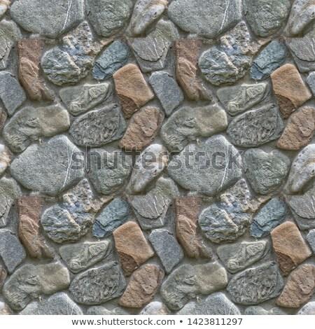 élevé anciens mur grec ciel bleu Photo stock © urbanangel