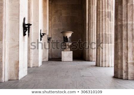 Anciens romaine couloir longtemps grec mur Photo stock © urbanangel