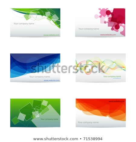 abstract puzzle business card template Stock photo © pathakdesigner