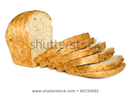 The cut loaf of bread with reflaction isolated on white Stock photo © ozaiachin