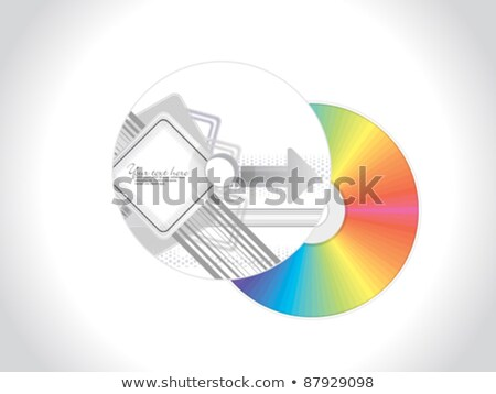 abstract arrow based cd cover template Stock photo © pathakdesigner