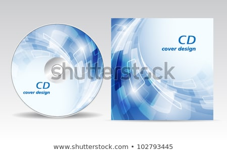 abstract colorful  cd cover template Stock photo © pathakdesigner