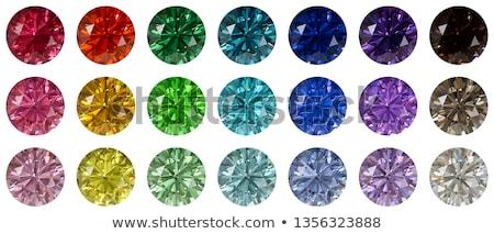 Round  blue sapphire Stock photo © Rozaliya