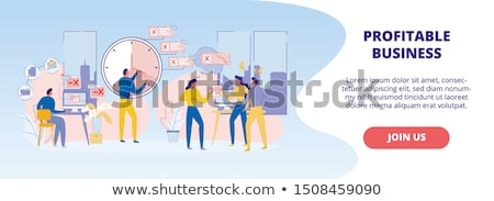 Urgency in making decision with clock  Stock photo © backyardproductions