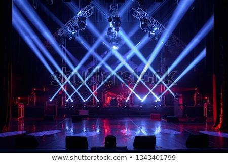 空っぽ · ステージ · スポット · ライト · 3dのレンダリング · パーティ - ストックフォト © threeart