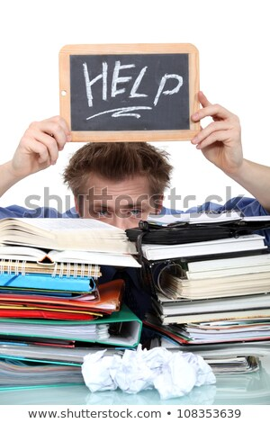 Student swamped under paperwork Stock photo © photography33