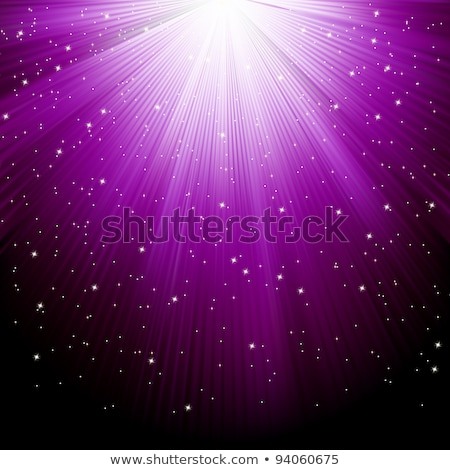 Stars on path of purple light. EPS 8 Stock photo © beholdereye