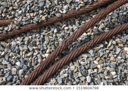 Rozsdás acél kábel szemét szeméttelep barna Stock fotó © pzaxe