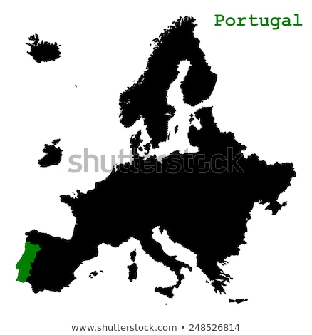 Portugal map on green paper stock photo © speedfighter