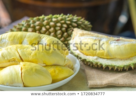 Close up of peeled durian flesh Stock photo © jakgree_inkliang