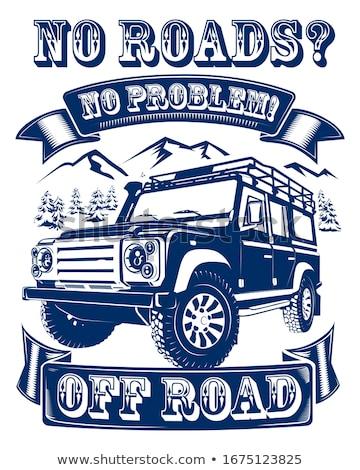 Jeep · route · boueux · sport · course - photo stock © davinci