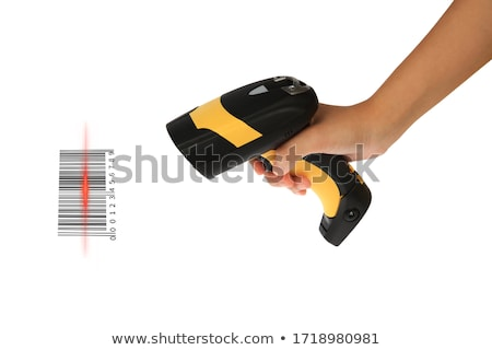Barcode · scanner · ordinateur · travaux · Palm · boîte - photo stock © Hasenonkel