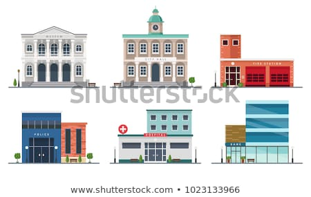 Ville salle façade art pierre gothique Photo stock © Procy