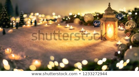 Quente luz de velas foto vela isolado preto Foto stock © Anna_Om