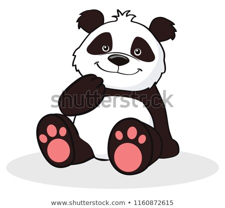 Graphique vecteur image heureux cute ours Photo stock © chromaco