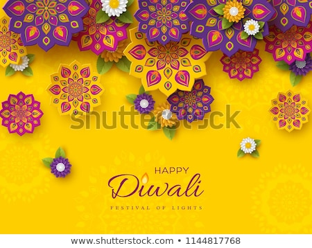 abstract diwali background with flower Stock photo © rioillustrator
