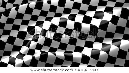 Kockás zászlók szett versenyzés sport űr Stock fotó © m_pavlov