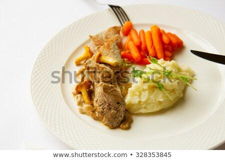 Roasted Chanterelles and Mushed Potato Stock photo © zhekos