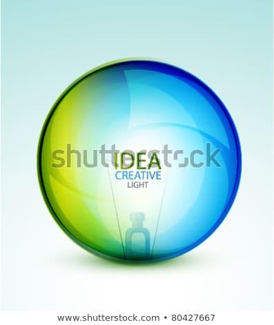 fényes · absztrakt · gömb · buborék · minta · többszörös - stock fotó © donskarpo