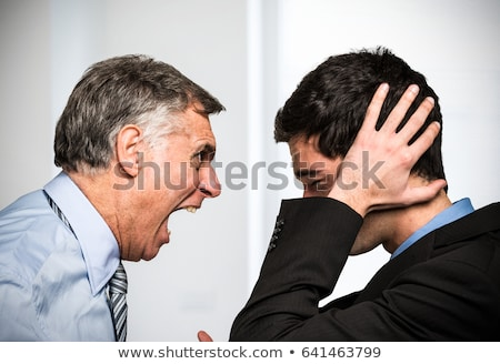 Boss yelling at employee Stock photo © photography33