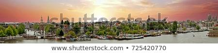 Amszterdam panoráma Hollandia Hollandia függőleges városkép Stock fotó © photocreo