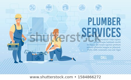 Plumber ready to change pipe work Stock photo © photography33