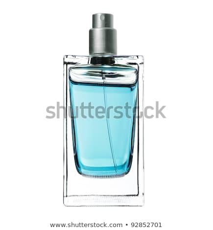 духи синий бутылку изолированный белый женщины Сток-фото © gsermek