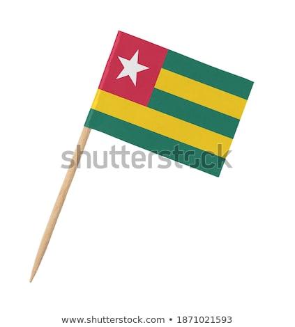 Minyatür bayrak Togo yalıtılmış toplantı Stok fotoğraf © bosphorus