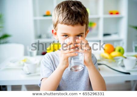 sevimli · bebek · içme · suyu · portre · çocuk - stok fotoğraf © photography33