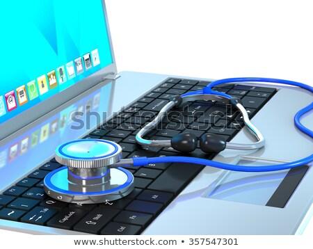 monitor · sztetoszkóp · számítógépjavítás · üzlet · telefon · munka - stock fotó © gladiolus