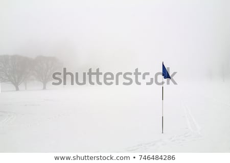 Сток-фото: гольф · зима · мнение · утра · драматический · облачный