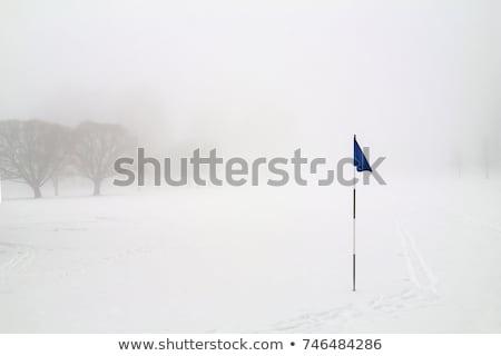 invierno · manana · campo · de · golf · vacío · Praga · golf - foto stock © capturelight