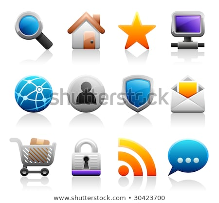 Stock photo: Titaniun web icons