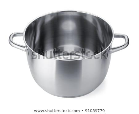 Pot kapak yalıtılmış beyaz gıda Stok fotoğraf © ozaiachin