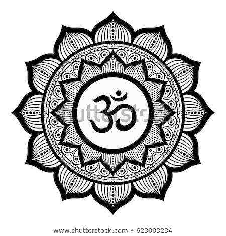 mandala · güzel · kına · stil · Asya · meditasyon - stok fotoğraf © hpkalyani
