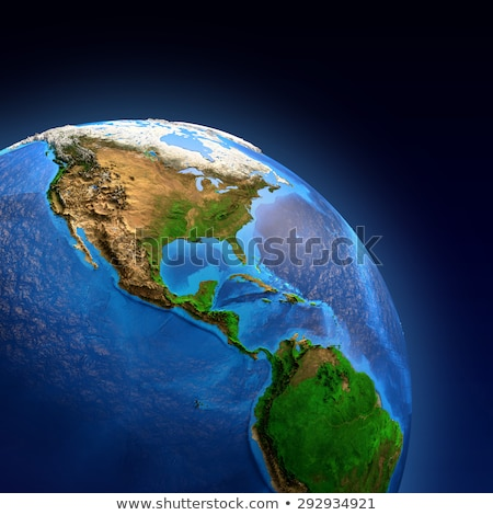 North, South, and Central AMERICA, Global World in Space Stock photo © fenton